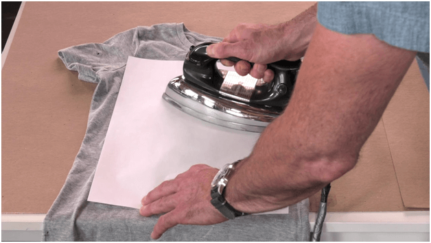 cure screen printing t-shirts using an iron